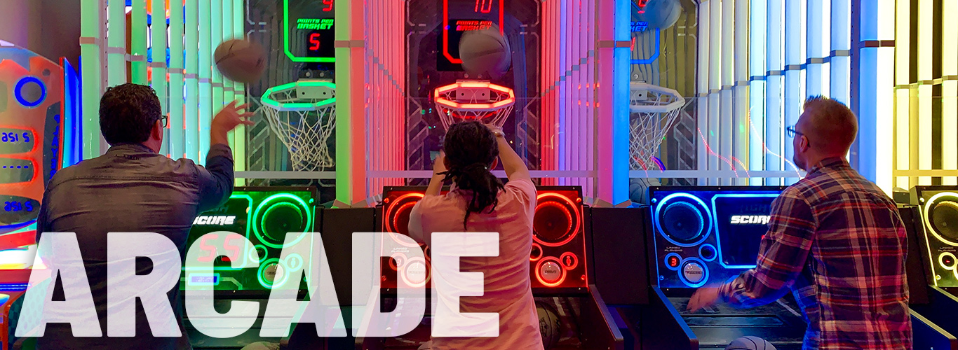 Play the latest games in our arcade game room at In The Game
