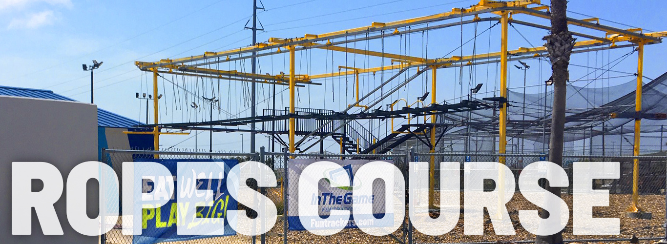 Challenge yourself on our ropes course