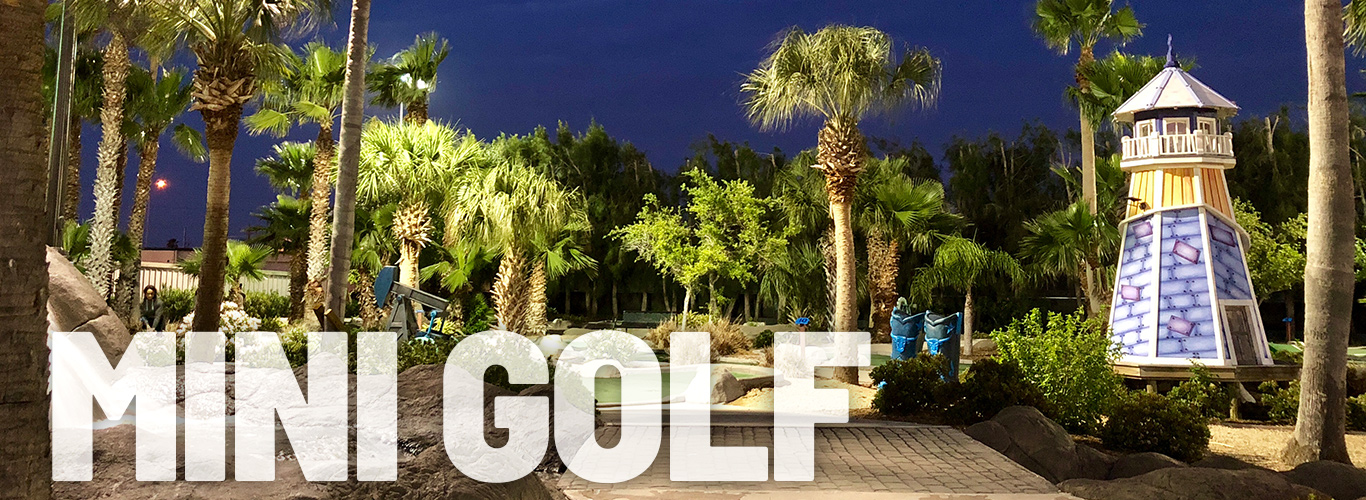 Challenge your friends and family on the mini golf course at In The Game