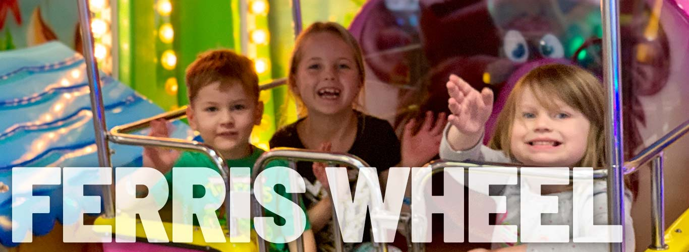 Ride the Ferris wheel at In The Game Corpus Christi